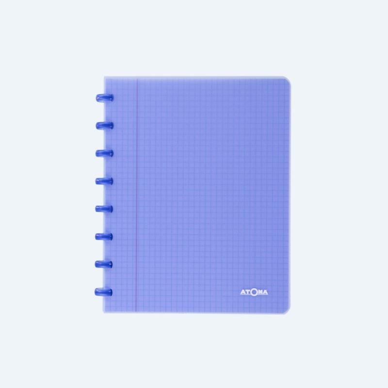 Cahier Atoma couverture plastique A5 quadrillé 5 x 5 mm 72 feuillets