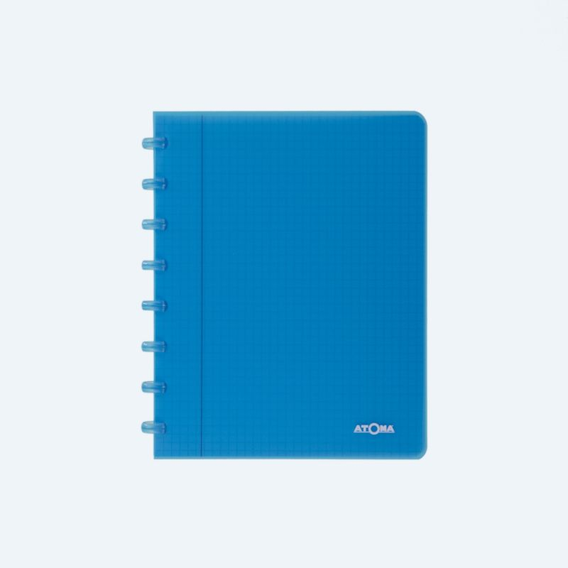 Cahier Atoma couverture plastique A5 quadrillé 4 x 8 mm 72 feuillets