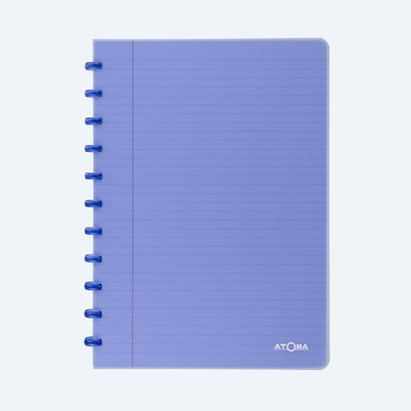 Cahier Atoma couverture plastique A4 quadrillé 5 x 5 mm 72 feuillets