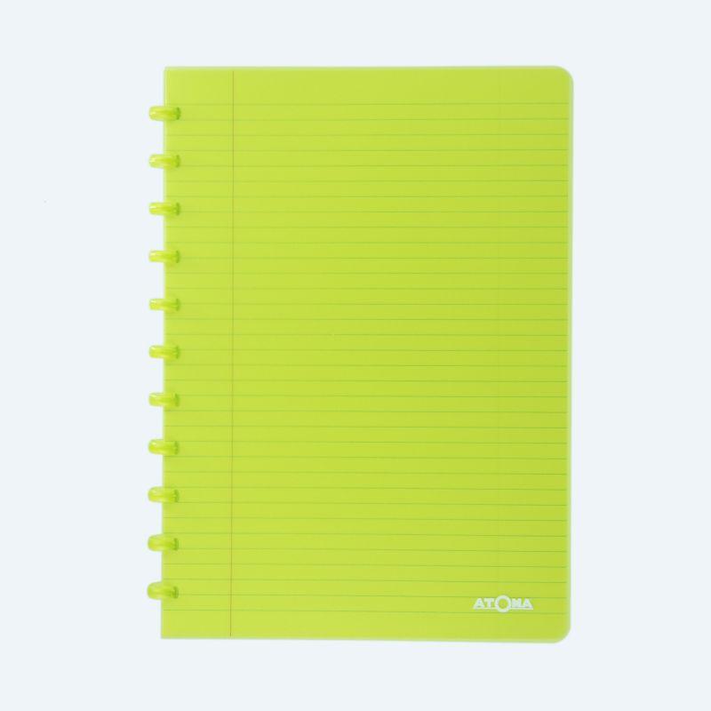 Cahier Atoma couverture plastique A4 quadrillé 10 x10 mm 72 feuillets