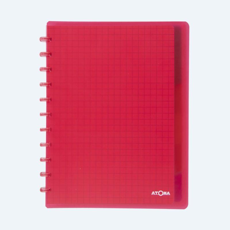 Cahier Atoma Combi couverture plastique A4 ligné- 1 ligne 72 feuillets