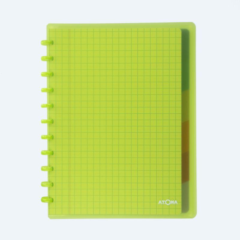 Cahier Atoma Combi couverture plastique A4 10 x 10 mm 72 feuillets