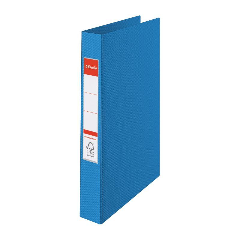 Classeur 2 anneaux Esselte PP rigide, 25mm - Bleu