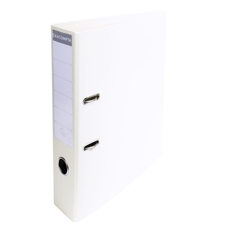 Classeur à levier PVC A4 dos de 70mm. - Blanc