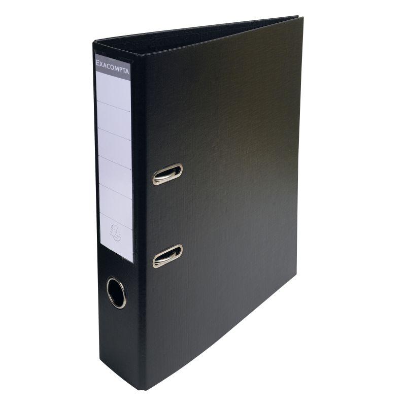 Classeur à levier PVC A4 dos de 70mm. - Noir