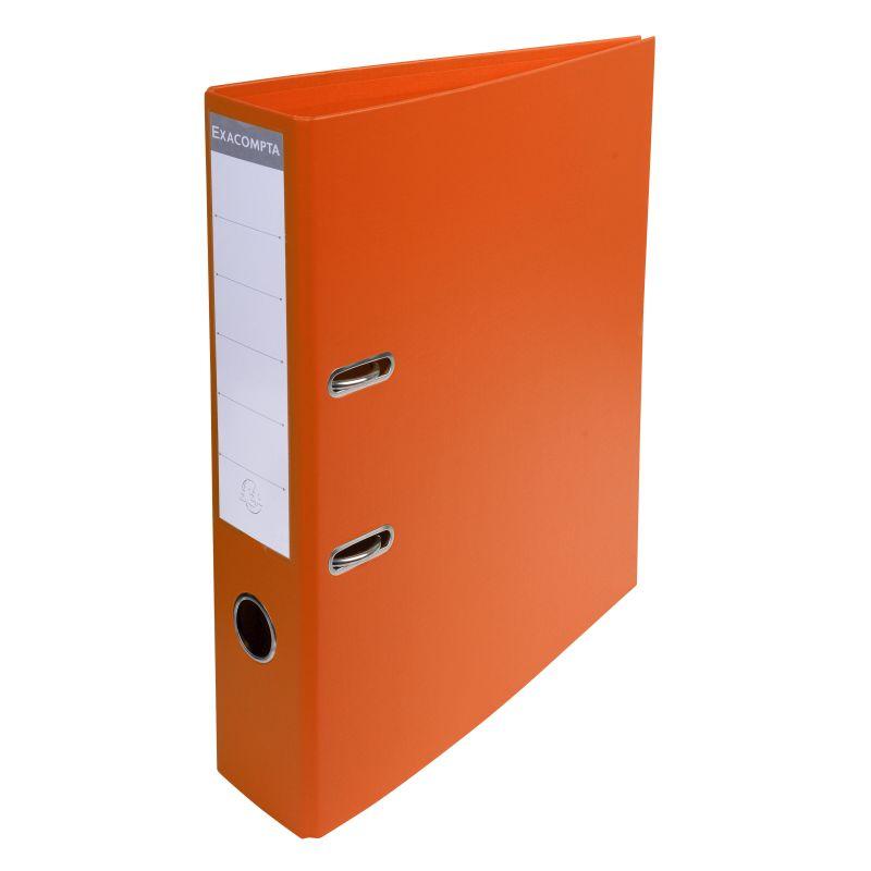 Classeur à levier PVC A4 dos de 70mm. - Orange