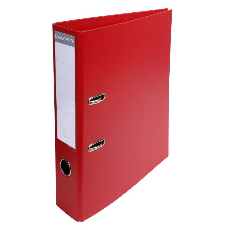 Classeur à levier PVC A4 dos de 70mm. - Rouge