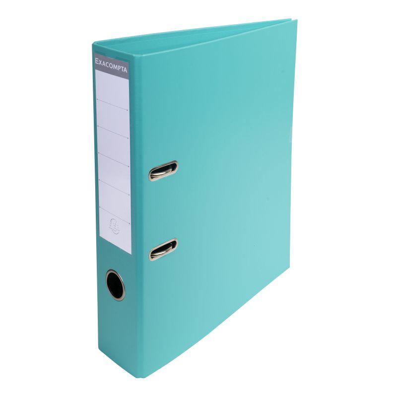 Classeur à levier PVC A4 dos de 70mm. - Turquoise
