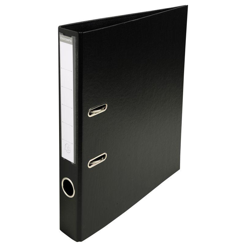 Classeur à levier PVC A4 dos de 50mm. - Noir