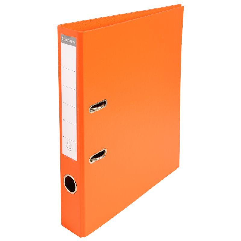 Classeur à levier PVC A4 dos de 50mm. - Orange