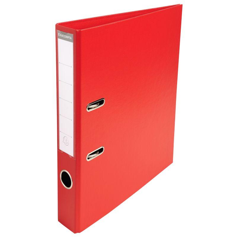 Classeur à levier PVC A4 dos de 50mm. - Rouge