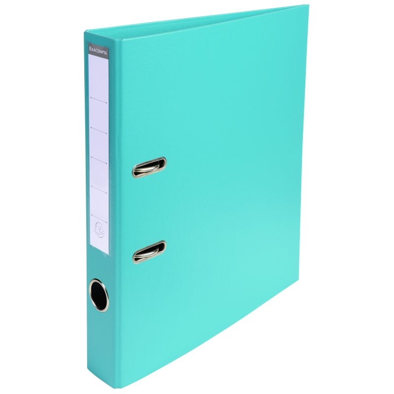 Classeur à levier PVC A4 dos de 50mm. - Turquoise
