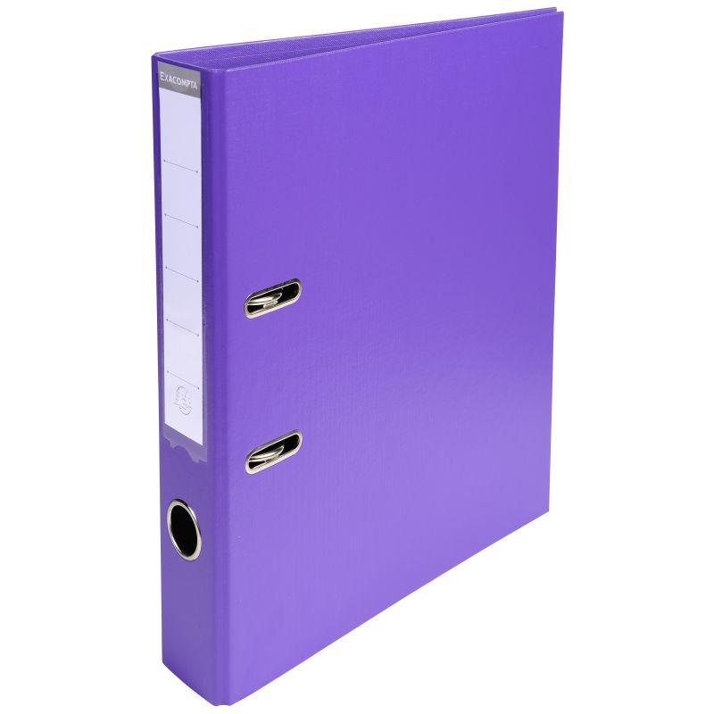 Classeur à levier PVC A4 dos de 50mm. - Violet