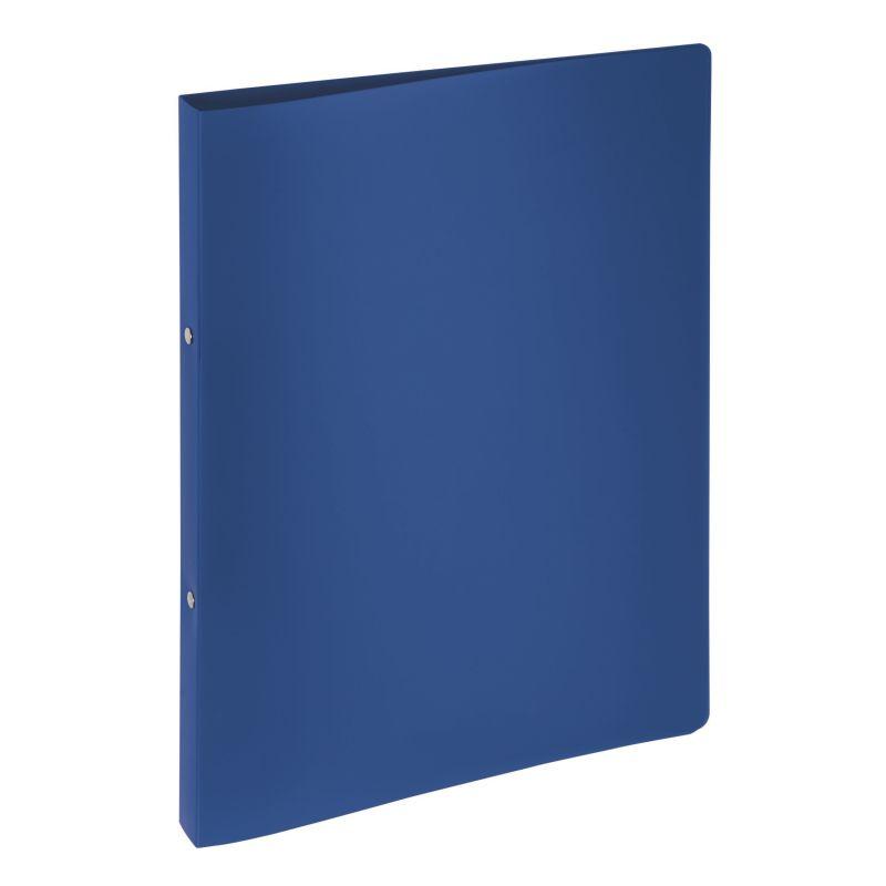 Classeur souple PVC 2 anneaux de 1,6 cm dos 2 cm - Bleu