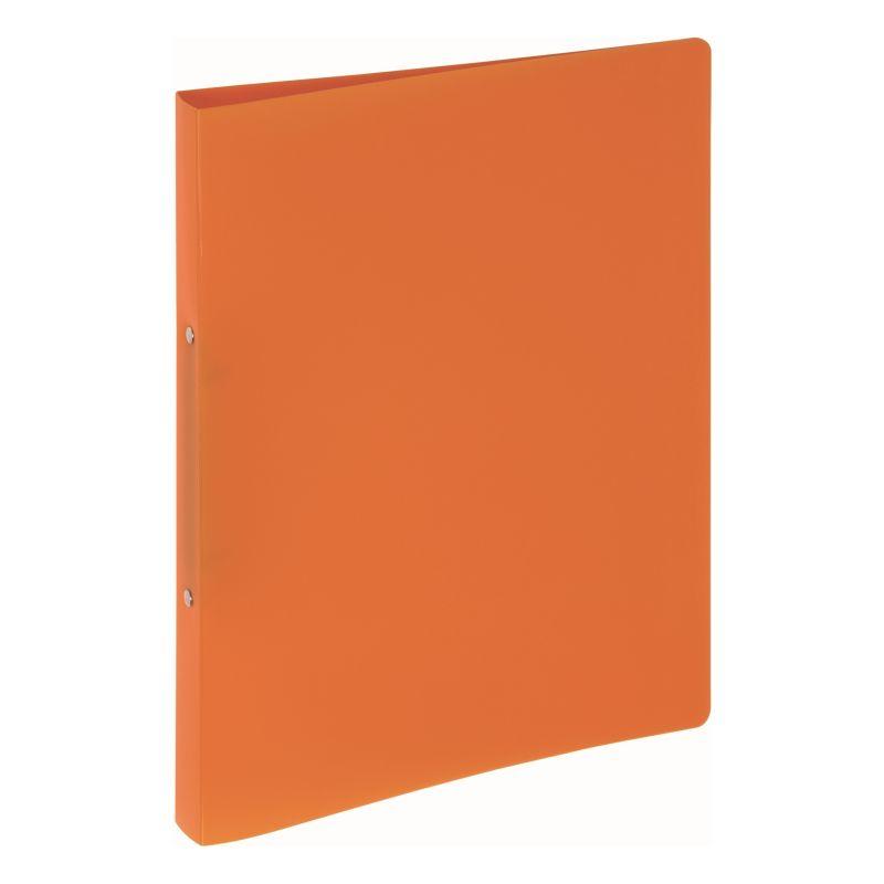 Classeur souple PVC 2 anneaux de 1,6 cm dos 2 cm - Orange