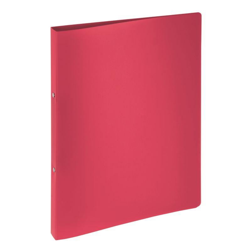 Classeur souple PVC 2 anneaux de 1,6 cm dos 2 cm - Rouge
