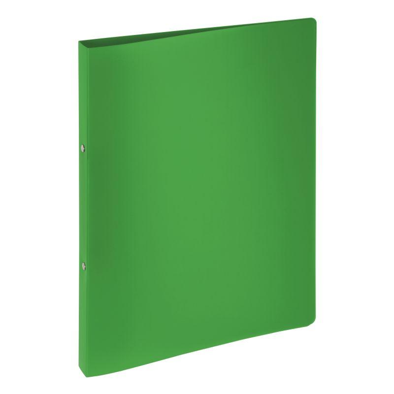 Classeur souple PVC 2 anneaux de 1,6 cm dos 2 cm - Vert