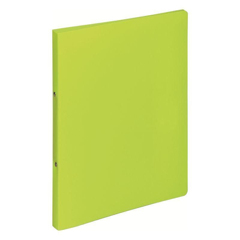Classeur souple PVC 2 anneaux de 1,6 cm dos 2 cm - Vert clair