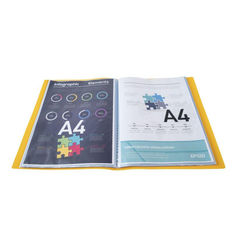 Farde de présentation en polypropylène souple OPAK 100 vues - A4 Jaune