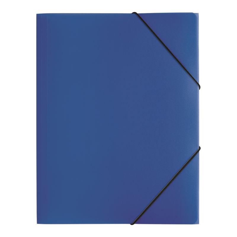 Farde polypro A4 3 rabats bleu
