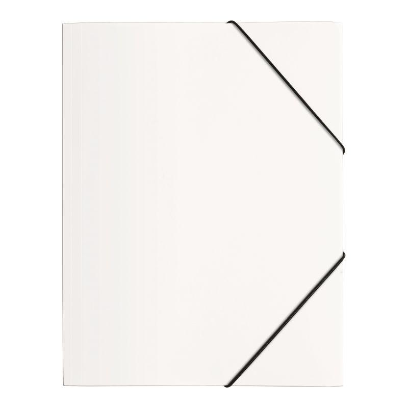 Farde polypro A4 - 3 rabats élastique [blanc]
