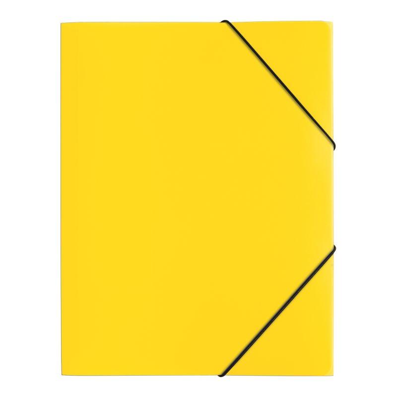 Farde polypro A4 3 rabats jaune