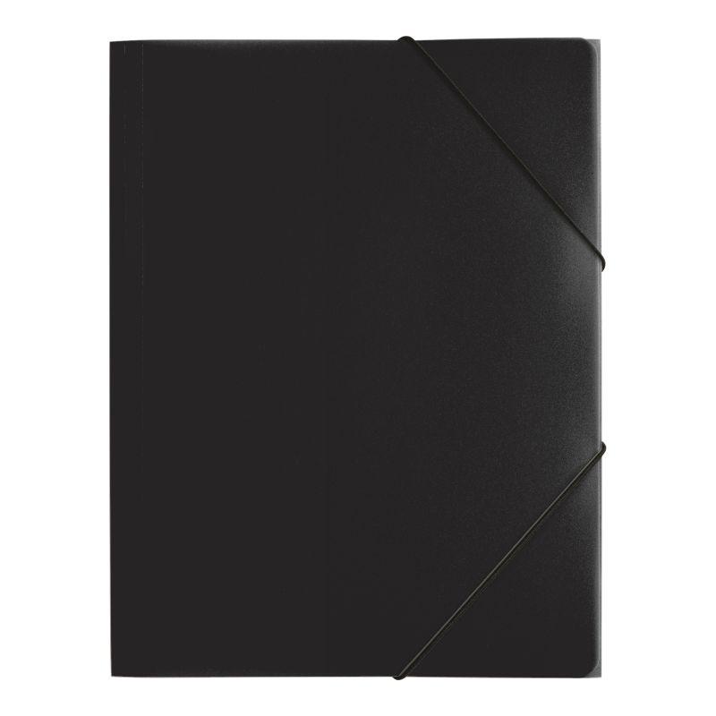 Farde polypro A4 - 3 rabats élastique [noir]