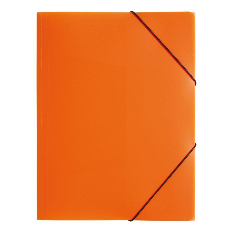Farde polypro A4 3 rabats orange