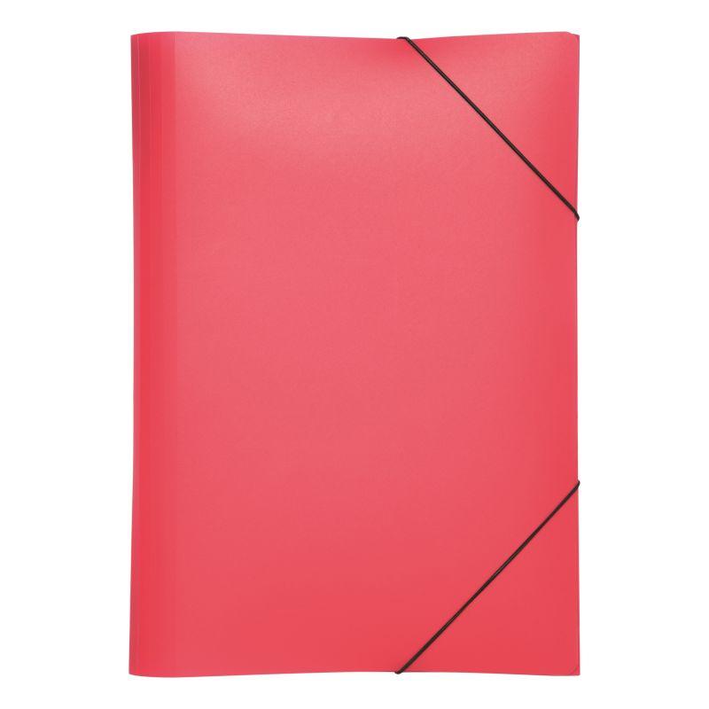 Farde polypro A4 3 rabats rouge
