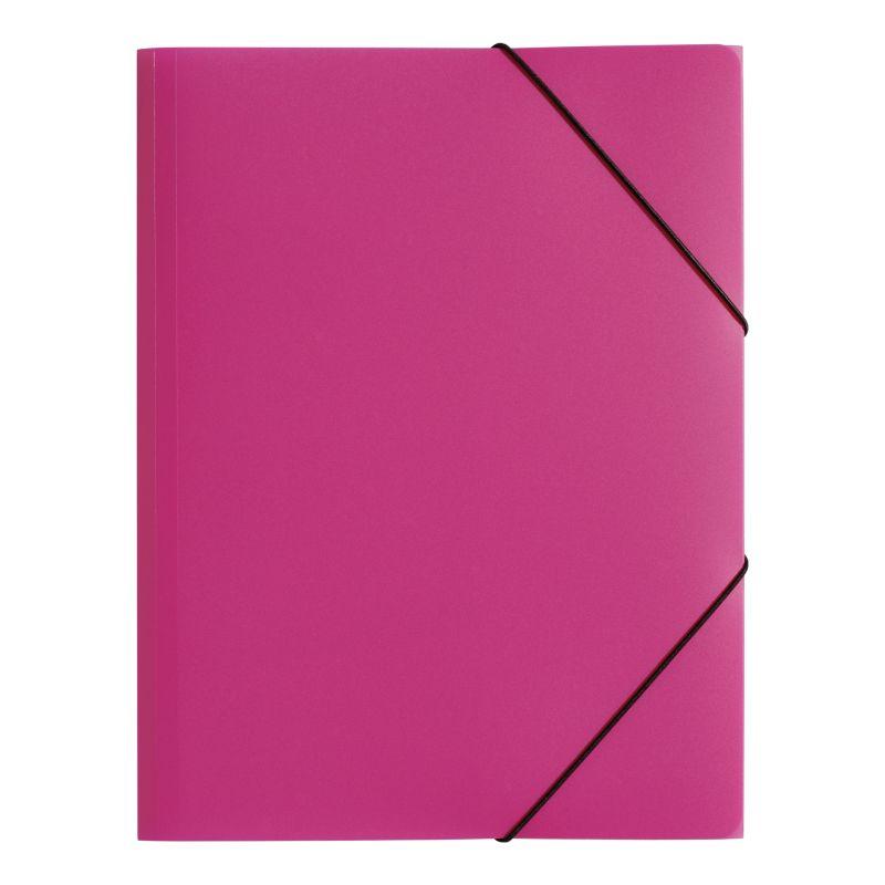 Farde polypro A4 3 rabats rose