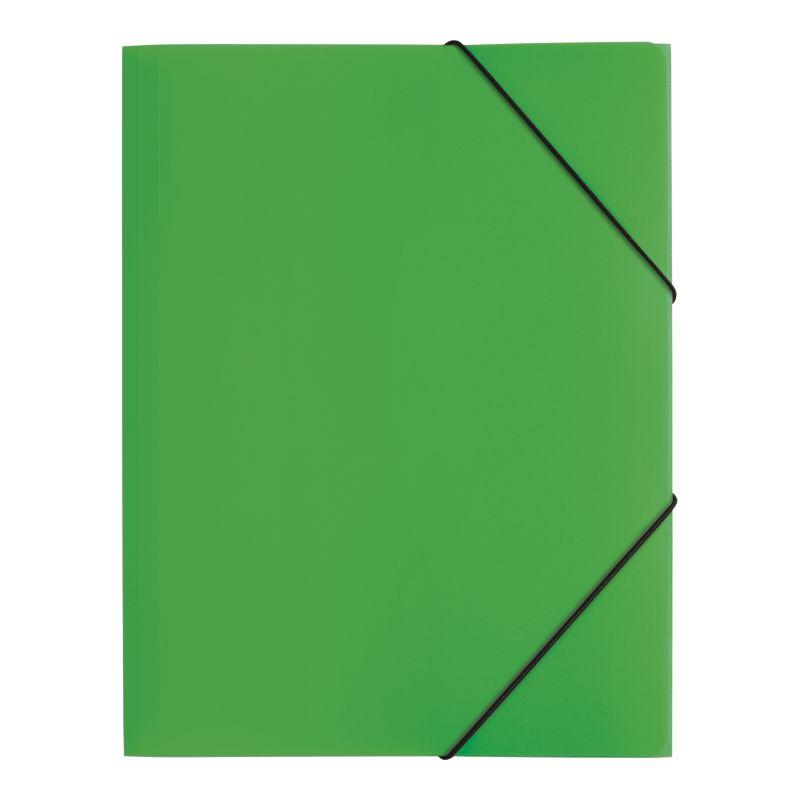 Farde polypro A4 3 rabats verte