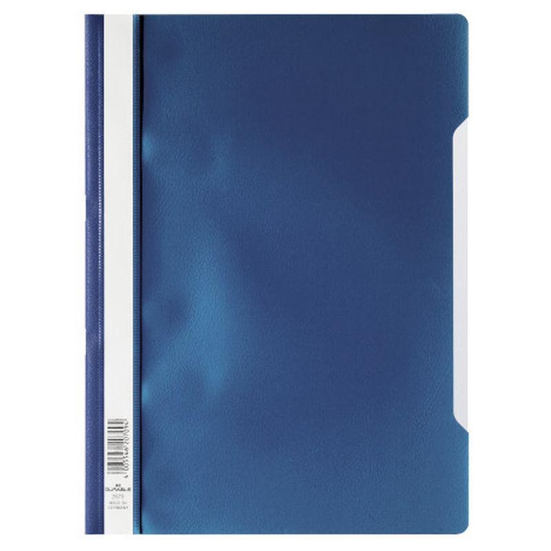 Farde devis A4 en polypropylène - Bleu