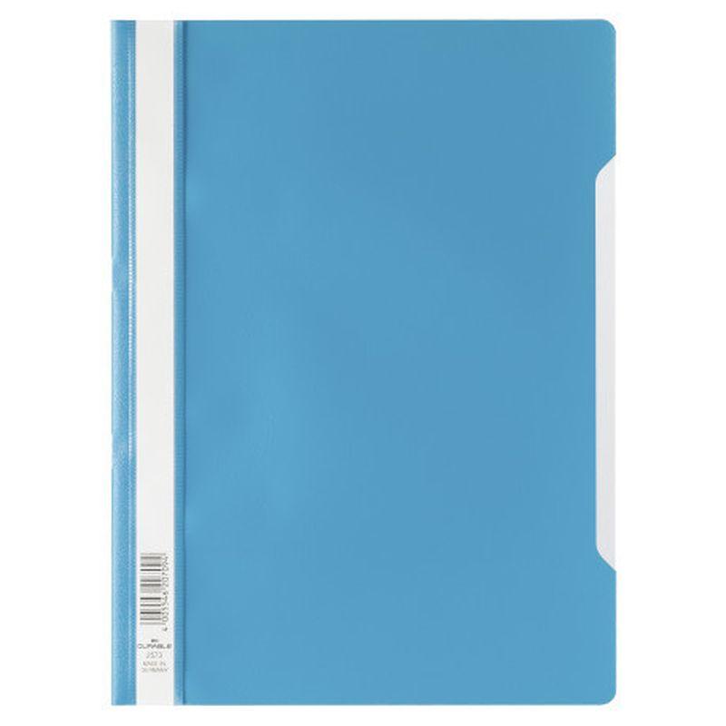 Farde devis A4 en polypropylène - Bleu clair