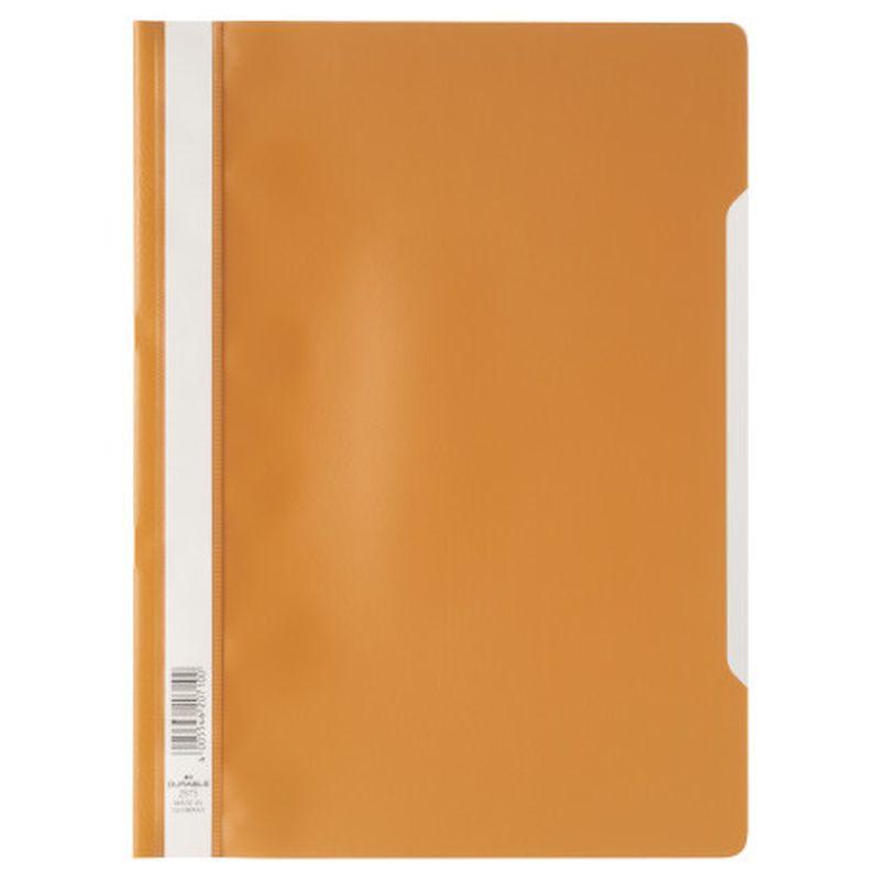 Farde devis A4 en polypropylène - Orange