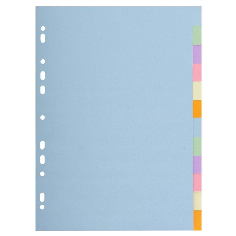 Intercalaires carte pastel 170g Forever 12 positions - A4