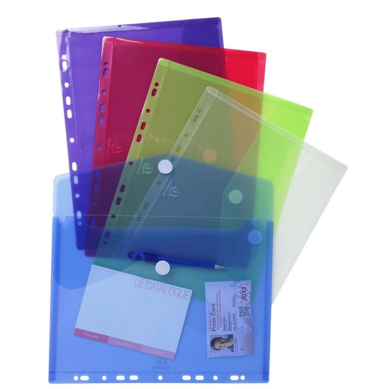 Enveloppe pochette perforée polypropylène