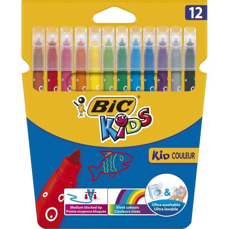 Etui de 12 Kid Marker Bic ultra lavable pointe 2 mm