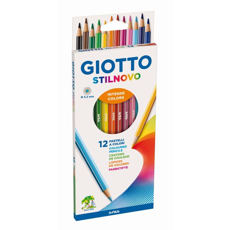 Etui 12 crayons Gioto Stilnovo mine de 3,3 mm