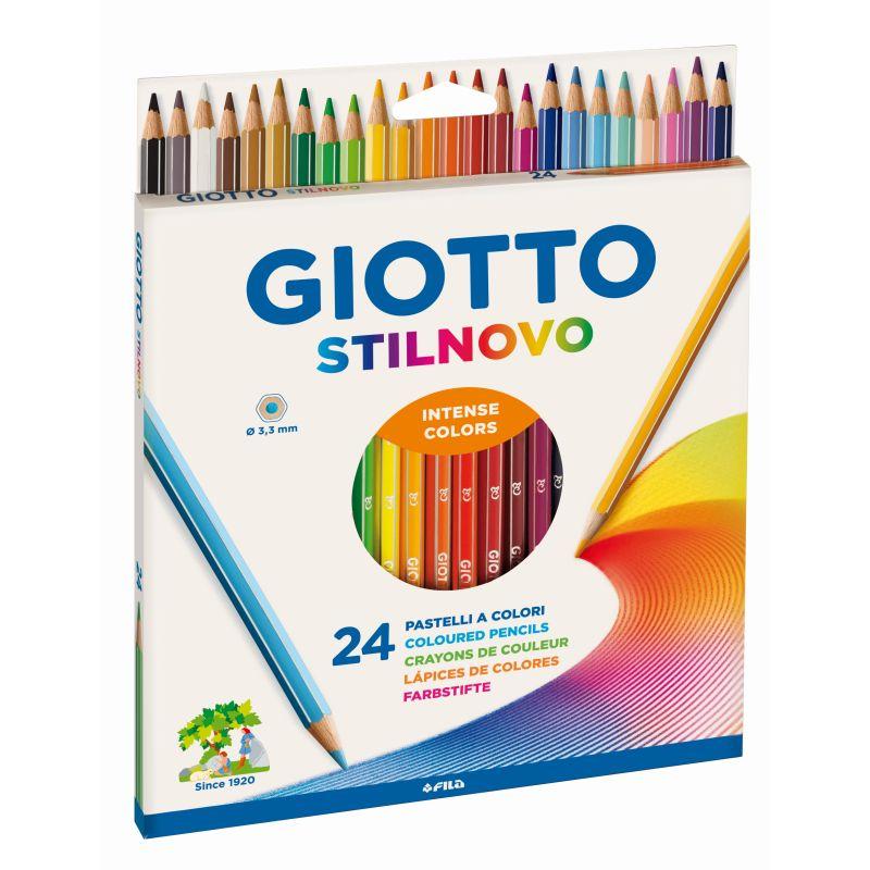 Etui 24 crayons Gioto Stilnovo mine de 3,3 mm