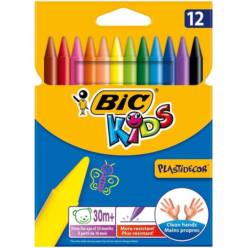 Etui de 12 crayons Bic plastidécor 12 cm