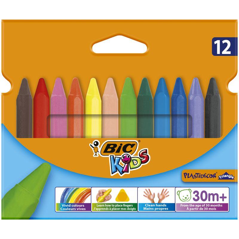 Etui de 12 crayons Bic plastidécor triangulaire 12 cm