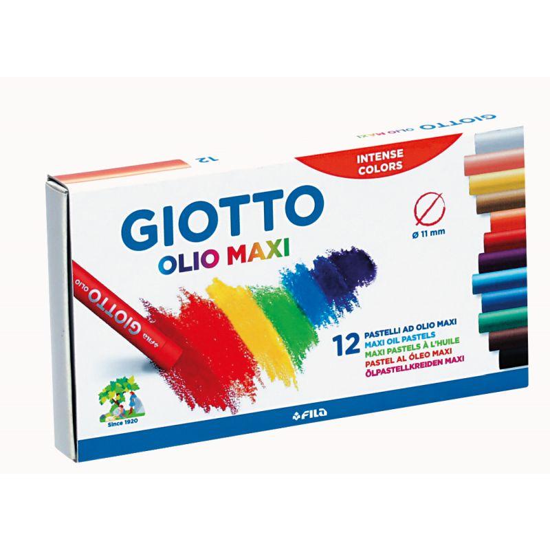 Etui de 12 pastels à l'huile de couleur