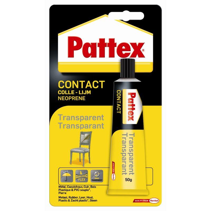 Colle de contact Pattex transparente