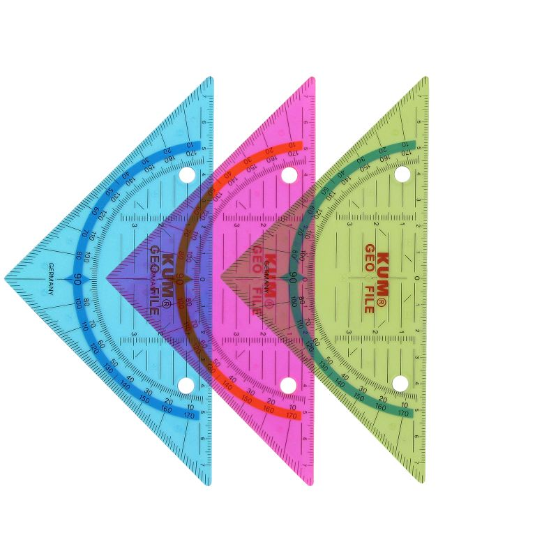 Equerre géométrique Kum 16 cm 2 trous