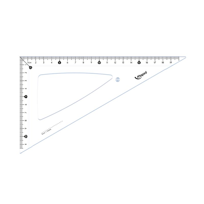 Equerre 60° bords anti-taches 21cm
