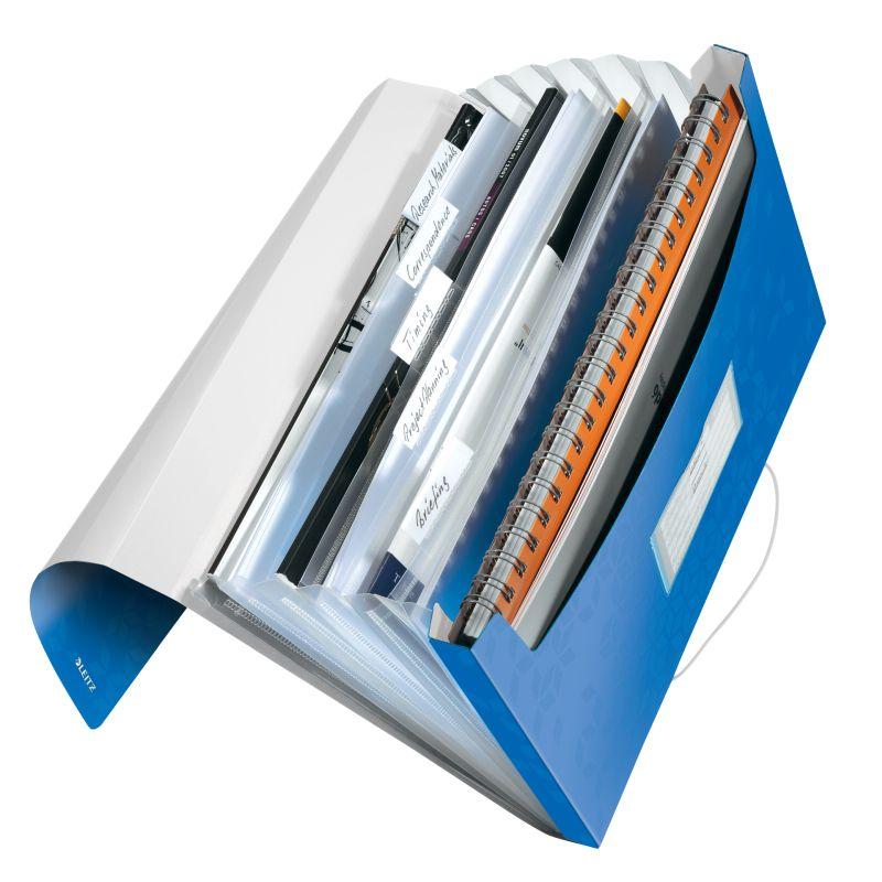 Trieur Leitz Wow 6 compartiments en Polypropylene - Bleu