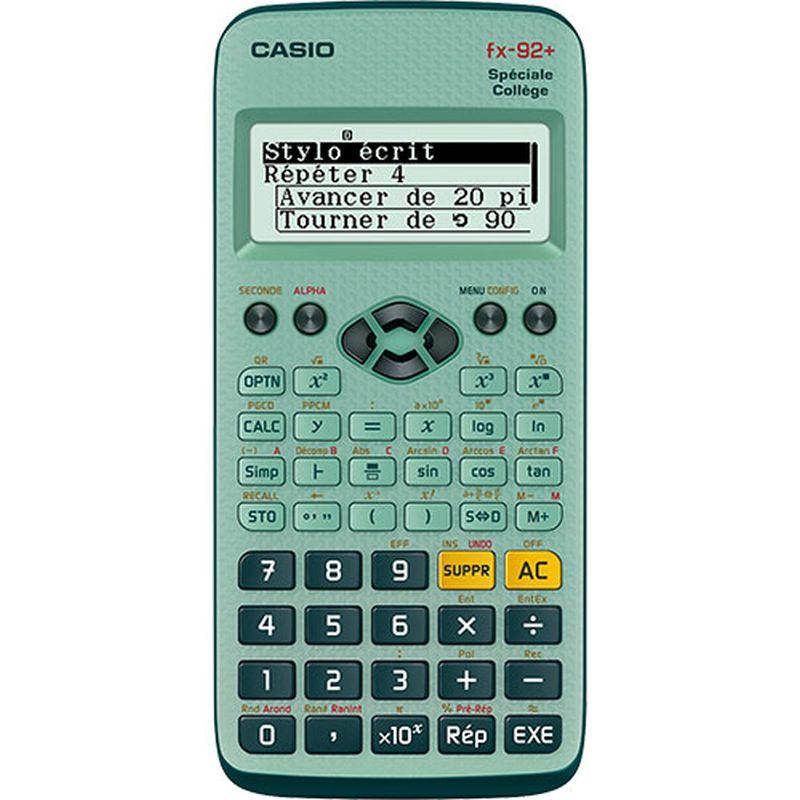 Machine à calculer scientifique CASIO FX 92 spèciale collège