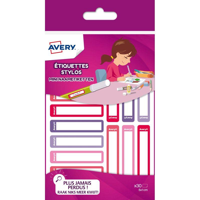 30 Etiquettes pour identifier les stylos [Multicolore -Rouge]
