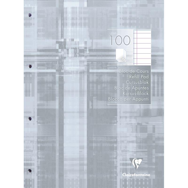 Bloc de cours Clairefontaine A4 ligné 100 feuilles 90 g
