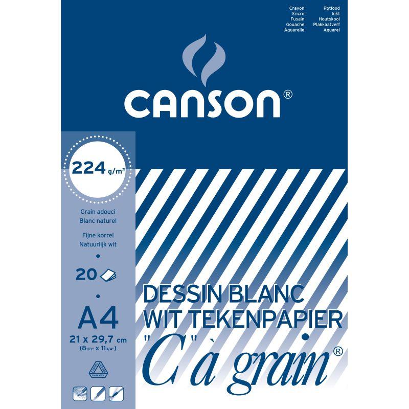 Boc de dessin Canson 20 feuilles A4 224 g